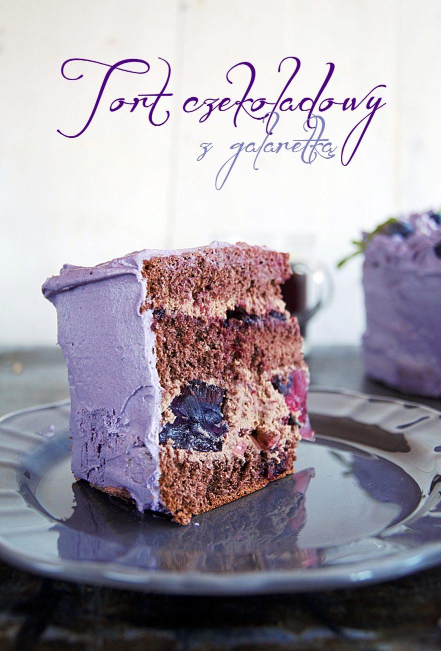 Tort czekoladowy z galaretką
