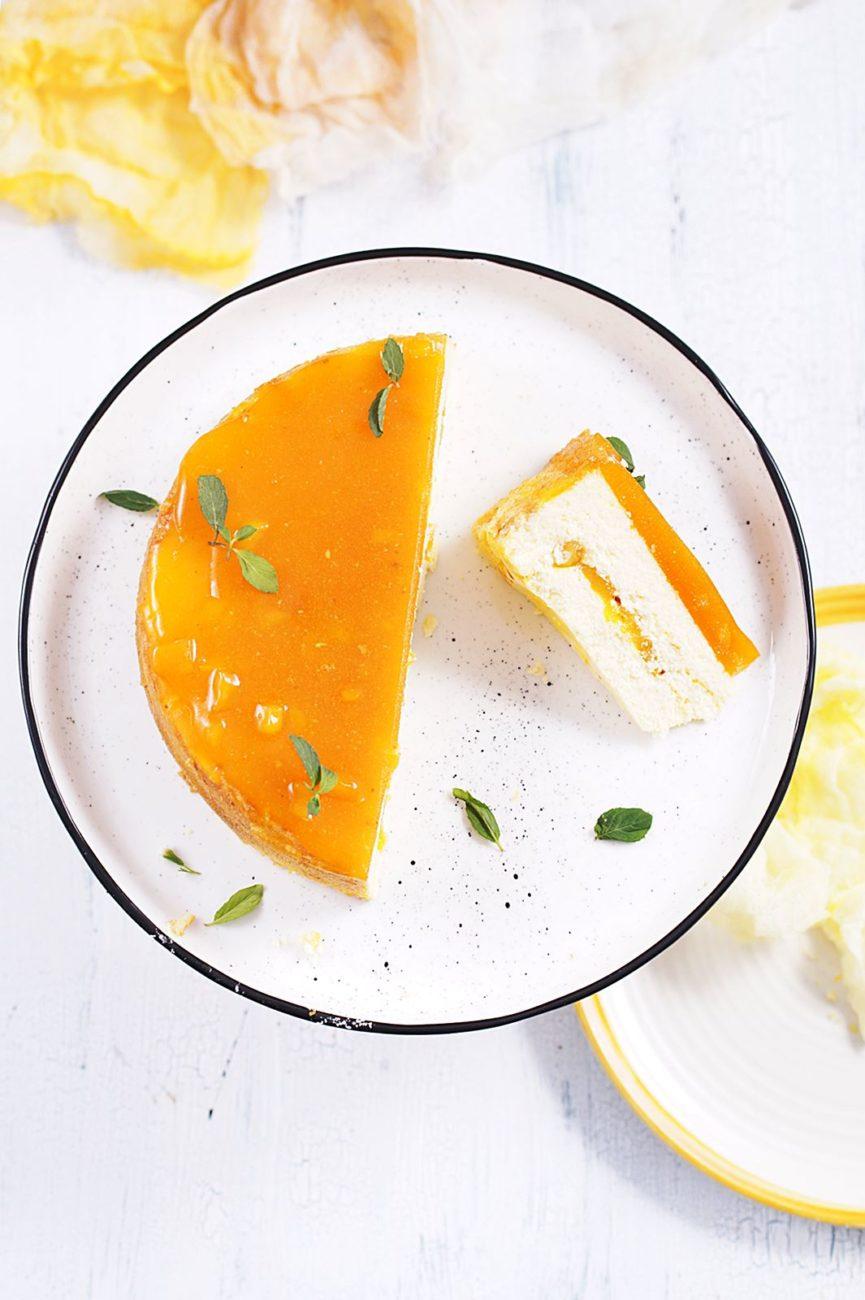 Sernik z mango i marakują