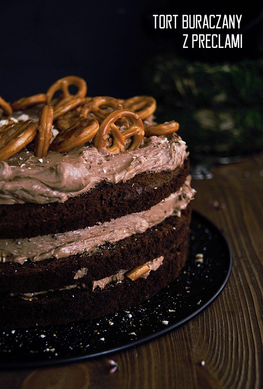 Tort buraczany z preclami