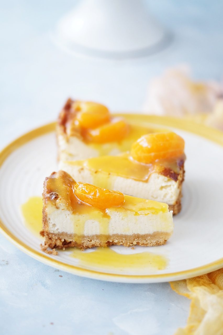 Sernik z mandarynkami